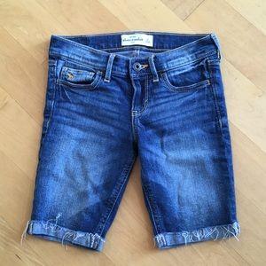 Abercrombie girls' jean shorts Bermuda length
